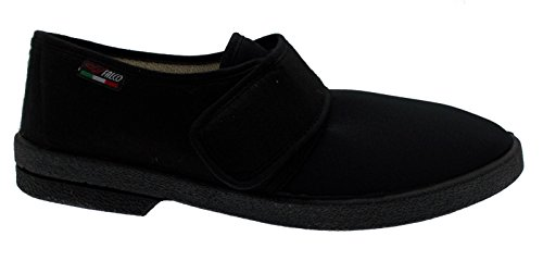 pantofola art 340 uomo cotone elasticizzato strip fisioterapia extra large 45 nero