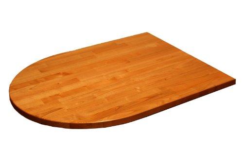~ ilegno ~ Tischplatte Ahorn vollmassiv, halbrund 160 x 90 cm, 27 mm stark
