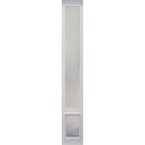 Ideal Pet Products Vinyl Pet Patio Door, White, Medium (Glass Patio Door Dog Door compare prices)
