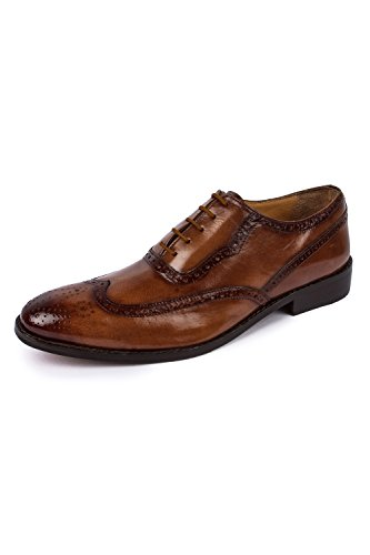 Liberty Leather Wingtip Oxford Dress Shoe 10 Tan (Leather Dress Shoes Men compare prices)