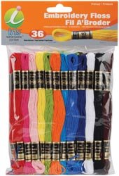 Melrose Embroidery Floss Pack 8 Meters 36/Pkg Primary Colors 1250; 6 Items/Order