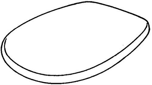 572165000 WC-Sitz Renova Nr. 1 mit Deckel, Scharniere: Edelstahl, weiß