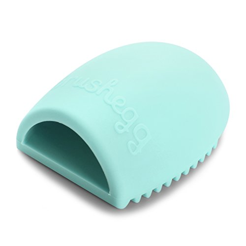 Zodaca Silicone Gel Cleaning Makeup Brush Cleaner, Washing Brush Egg Finger Glove With Scrubber Board / Washboard For Easily Cleaning, Mint Green (Organic Makeup Brush Cleaner compare prices)