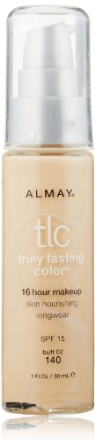Almay TLC  Truly Lasting Color Makeup, Buff 02 140, 1-Ounce Bottle