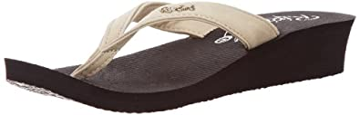 Rip Curl Womens Morea Thong Sandals TGTAN1 Ivory/Black 4 UK, 37 EU