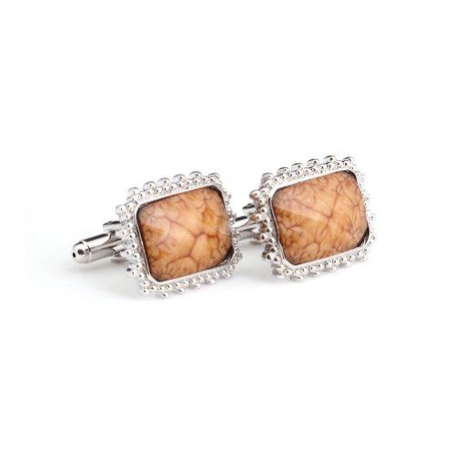 Digabi Men's Jewelry Silver Plated White Stone