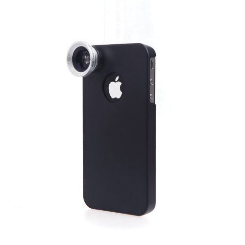 Docooler 0.67X Wide Angle Macro Lens 2 In 1 With Back Case For Iphone 4/4S (Macro Lens 2 In 1 With Back Case For Iphone 4/4S)