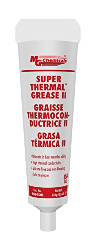 MG Chemicals 8616-85ML Cream Super Thermal Grease II, Silicone Free and Non Bleeding, 3 oz, Tube