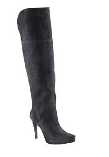 High-Heels-Stiefel: High Heel Stiefel aus Velourseder in Schwarz Gr. 36