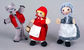 Red Riding Hood Hand Puppet Set of 3 - Toy
