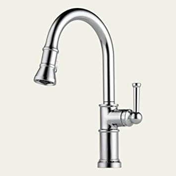 Brizo 63025LF-PC - Artesso: Single Handle Pull-Down Kitchen Faucet - Chrome Finish