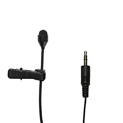 MicroDot 6016 Lavalier Lapel Clip-on Omni-directional Condenser Microphone for Camcorders Smart Phone Voip Skype and laptop (Stereo 3.5mm Plug)