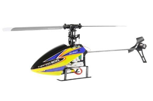 13000000 Ferngesteuerter RC Hubschrauber Flybarless 200 Trainer Single Blade - 4 Kanal ARTF gelb blau