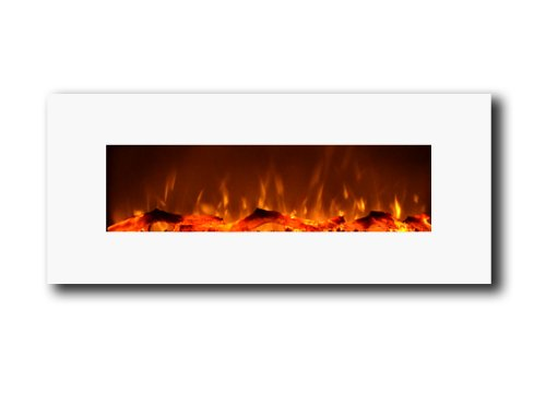 Touchstone Ivory Electric Wall Mounted Fireplace - White picture B00COQIGEK.jpg