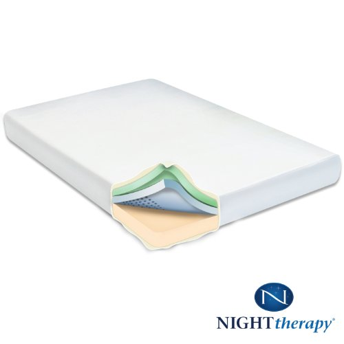 Discount deals night therapy 8 memory foam mattress queen thisdeals Discount foam mattress