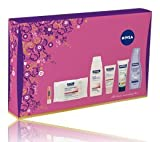 Nivea All About ... Nourishing Skin Gift Set: Nivea Irresistibly Smooth Body Lotion 250ml + Nivea Visage Daily Essentials Rich Moisturising Day Cream SPF 15 50ml + Nivea Visage Daily Essentials Gentle Cleansing Wipes (25 Wipes pack) + Nivea Pearly Shine