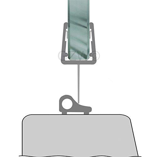 80 cm Duschdichtung Streifdichtung Ersatzdichtung Glasdusche Duschtür 5-8 mm Glasstärke