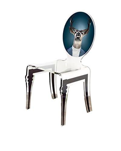 ACRILA Deer Graph Chair, Clear