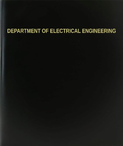 "Bookfactory® Department Of Electrical Engineering Log Book / Journal / Logbook - 120 Page, 8.5""X11"", Black Hardbound (Xlog-120-7Cs-A-L-Black(Department Of Electrical Engineering Log Book))"