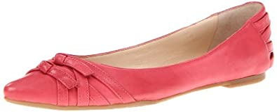 Nine West Women's Kessler Flat,Red Leather,9.5 M US
