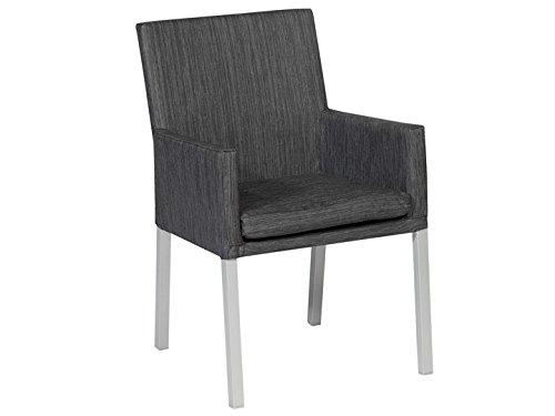 IBIZA Dining Sessel Gartensessel Textilene Schwarz günstig bestellen