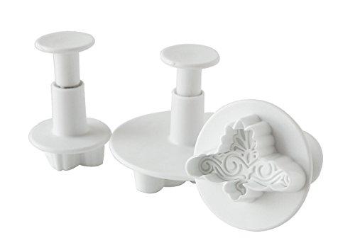 Fox Run Brands Elegant Swirls Plunger Cutters, White (Swirl Cutter compare prices)