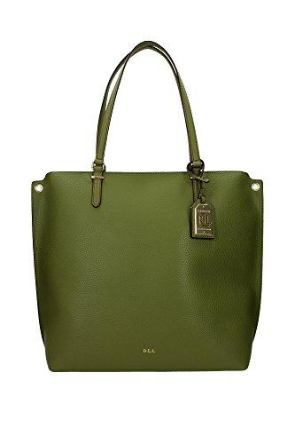 Borse Shopping Ralph Lauren Donna Poliuretano Verde e Oro N91L7559AL697A3L93 Verde 15x32x34 cm