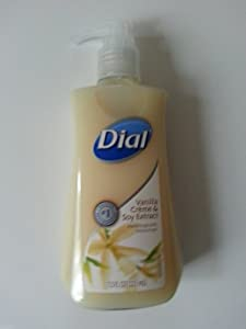Dial Liquid Hand Soap, Vanilla Crème and Soy Extract, 7.5 Ounce