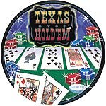 Texas Hold 'em Large Paper Plates (8ct)
