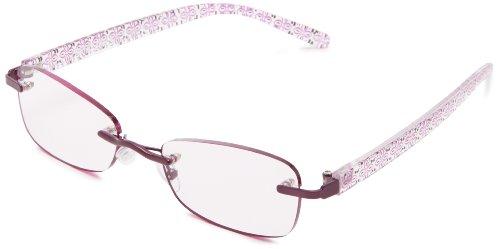Foster Grant Women's Daniella Oval Reading Glasses,Purple,52
