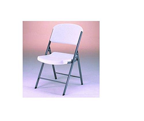 4 Lifetime White Granite Molded Folding Chair petitive Edge