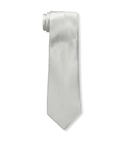 Valentino Men's Solid Silk Tie, Silver