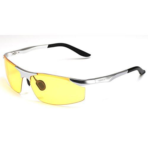 soxick® HD polarizzati occhiali per la guida notturna antiriflesso per giorno sera auto Rides, racchiuso in un elegante confezione regalo