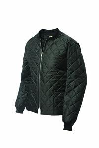 Work King Men's Quilted Freezer Jacket, Black, X-Large