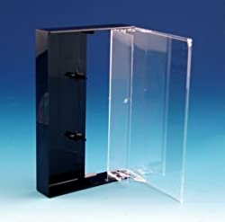 (30) Clear & Black Wide Back Cassette Boxes #CABS15BC - 4-1/4