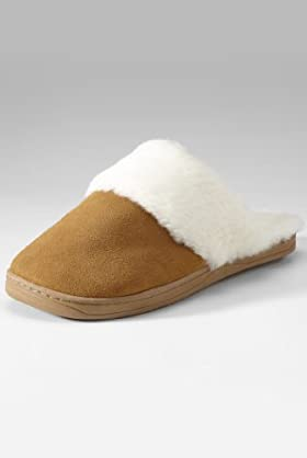 Freshfeet Suede Leather Secret Support Slippers with Silver Technology [T82-2310-S]
