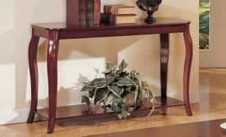 Cheap 1-pc Beautiful console Table in Dark Cherry Finish PDSF60152 (B004RQULZ2)