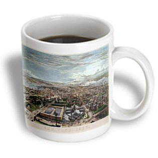 Bln Vintage New York City Collection - New York City, 1855 From The Latting Observatory, 1858 - 11Oz Mug (Mug_170851_1)