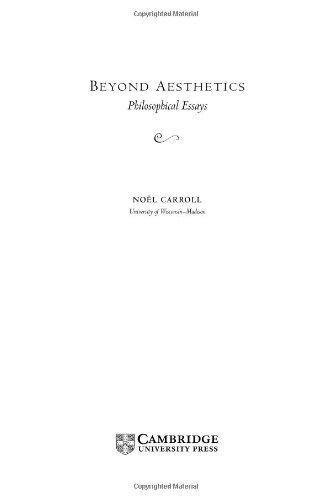 Beyond Aesthetics: Philosophical Essays