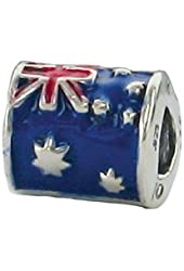 Zable Sterling Silver Australia Bead Charm (10 X 9 mm)