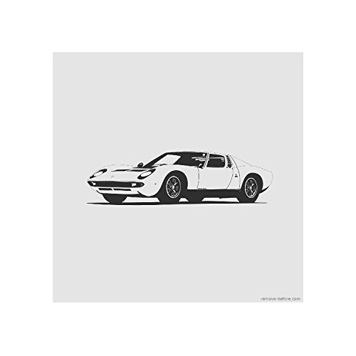 Remove-Before Limited Edition Classic Car Prints (Lamborghini Miura) (Classic Car Furniture compare prices)