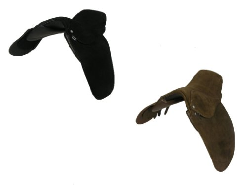 Brown Suede Horse Riding Equestrian Dressage Showing Pony Saddle - 12 Inch