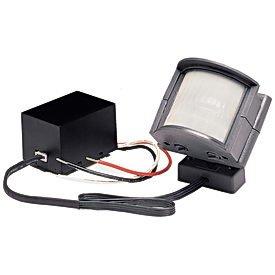 Heath/Zenith SL-5210-GR-B 110-Degree Wire-In Motion-Sensing Light-Fixture Adapter, Gray