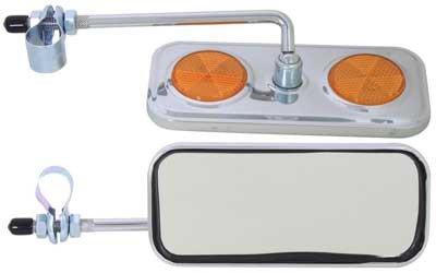 Sunlite Bicycle Rectangular Chrome Plated Mirror