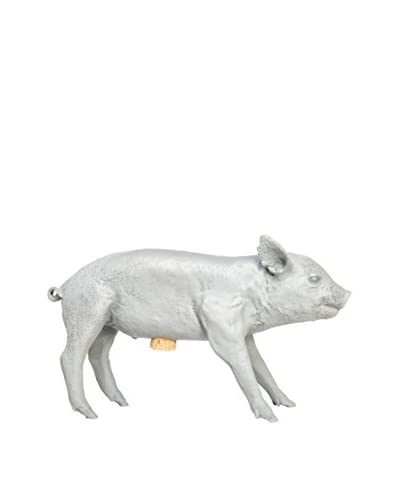Areaware Bank In The Form of A Pig, Grey