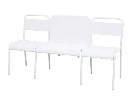 Siena Mybalconia 259613 LoveBench Palma weiß Stahl-Gestell matt weiß mit Klapptisch multifunktional online bestellen