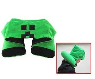 Minecraft Neck Travel Pillow With Hood from jiajia