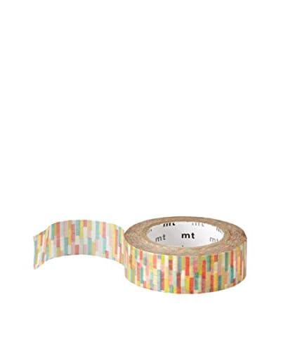 mt Masking Tape Striped Decorative Tape, Multi, 32.8 ft.