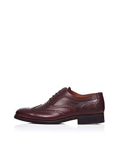 Rooster League Zapatos Oxford Brogue Burdeos