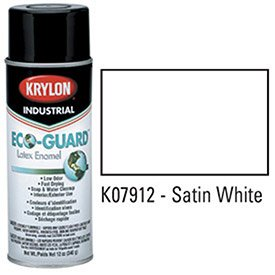 krylon-industrial-eco-guard-latex-spray-paint-satin-white-lot-of-12